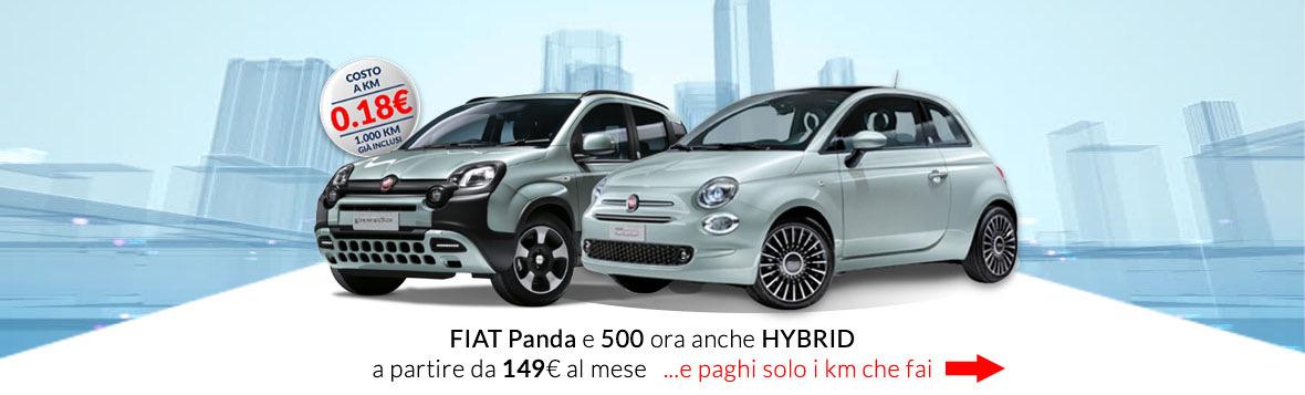 Noleggio Fiat panda o fiat 500 da 149€