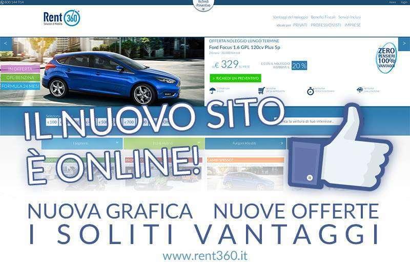 Il nuovo sito di Rent360 è online