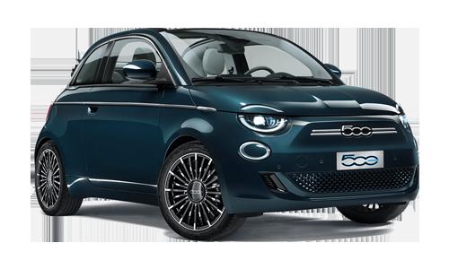 Fiat 500 elettrica la prima 118cv Cabrio a Noleggio